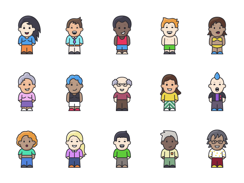 Lil Buddies - 15 People Icons preview picture