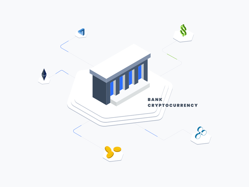 Bank Coin Isometric Graphic