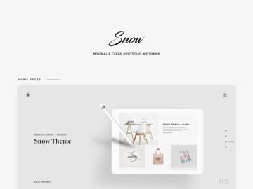 Snow - Free HTML + PSD Portfolio