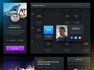 Dark Sports UI - Free PSD