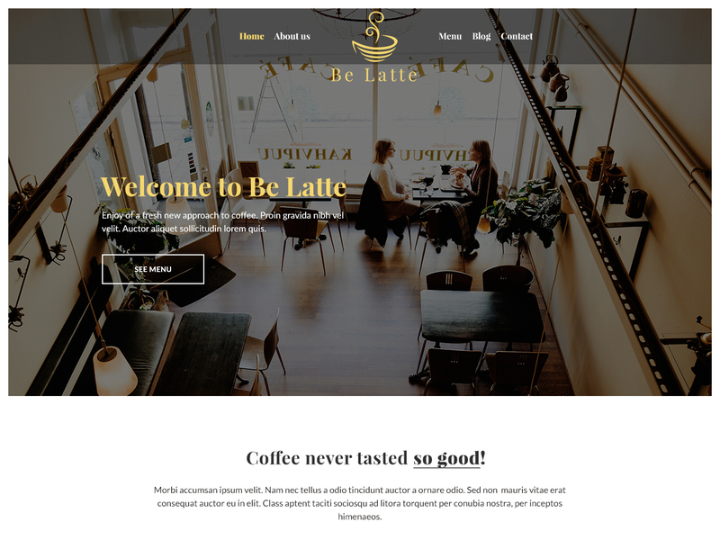 Be Latte - Coffee shop [PSD] preview picture