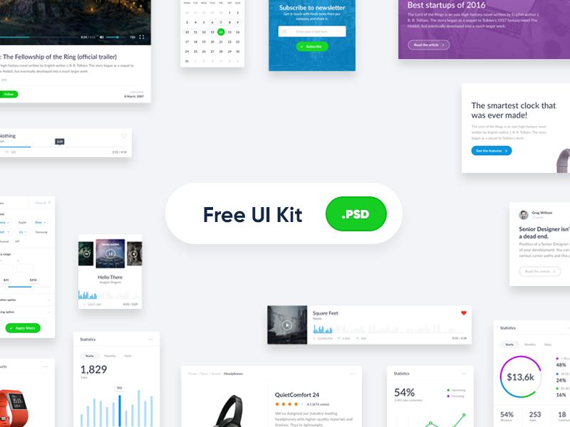 Free UI Kit [PSD]