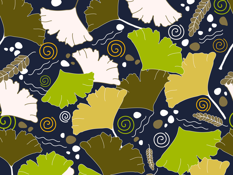 Seamless Leaves Pattern preview picture