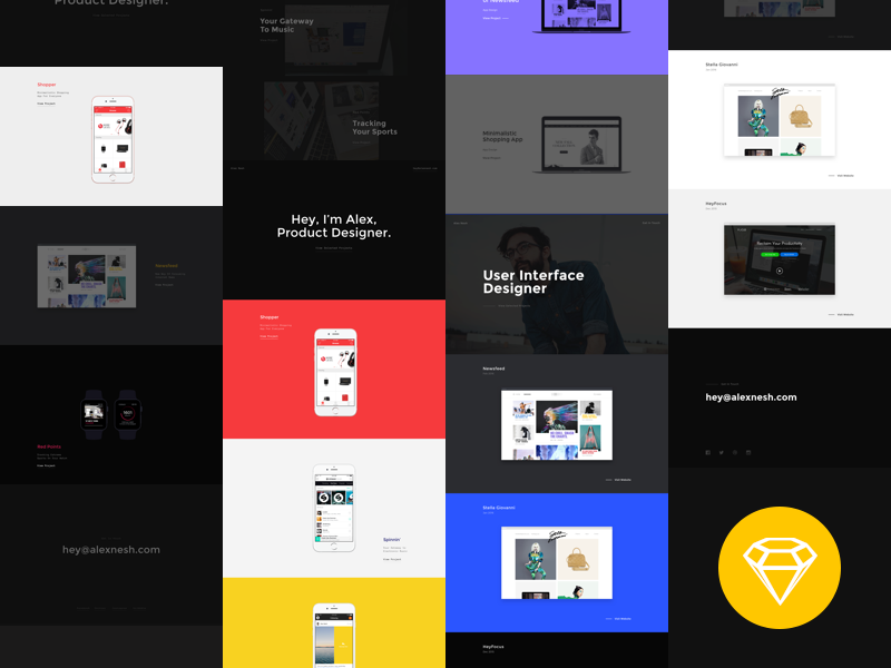 One Page Portfolio Bundle preview picture