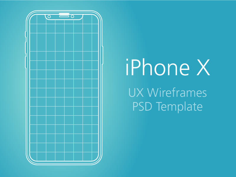 iPhone X - UX & PSD Template preview picture
