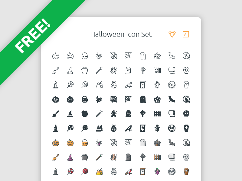 Free Halloween Icon Set preview picture