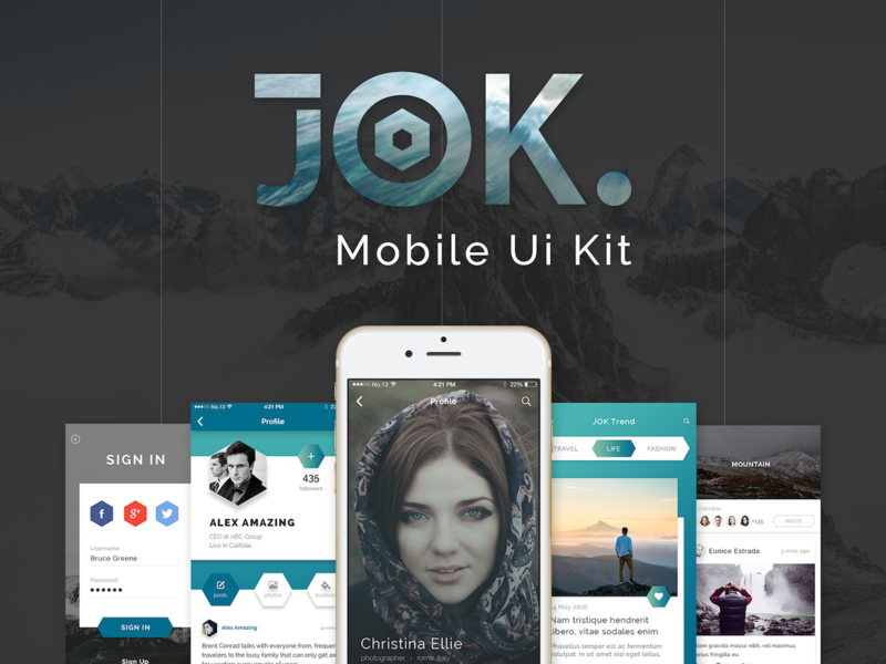 JOK Mobile UI KIT preview picture