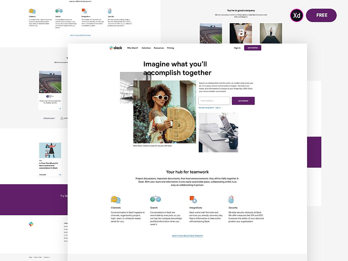 Slack Design (Adobe XD)