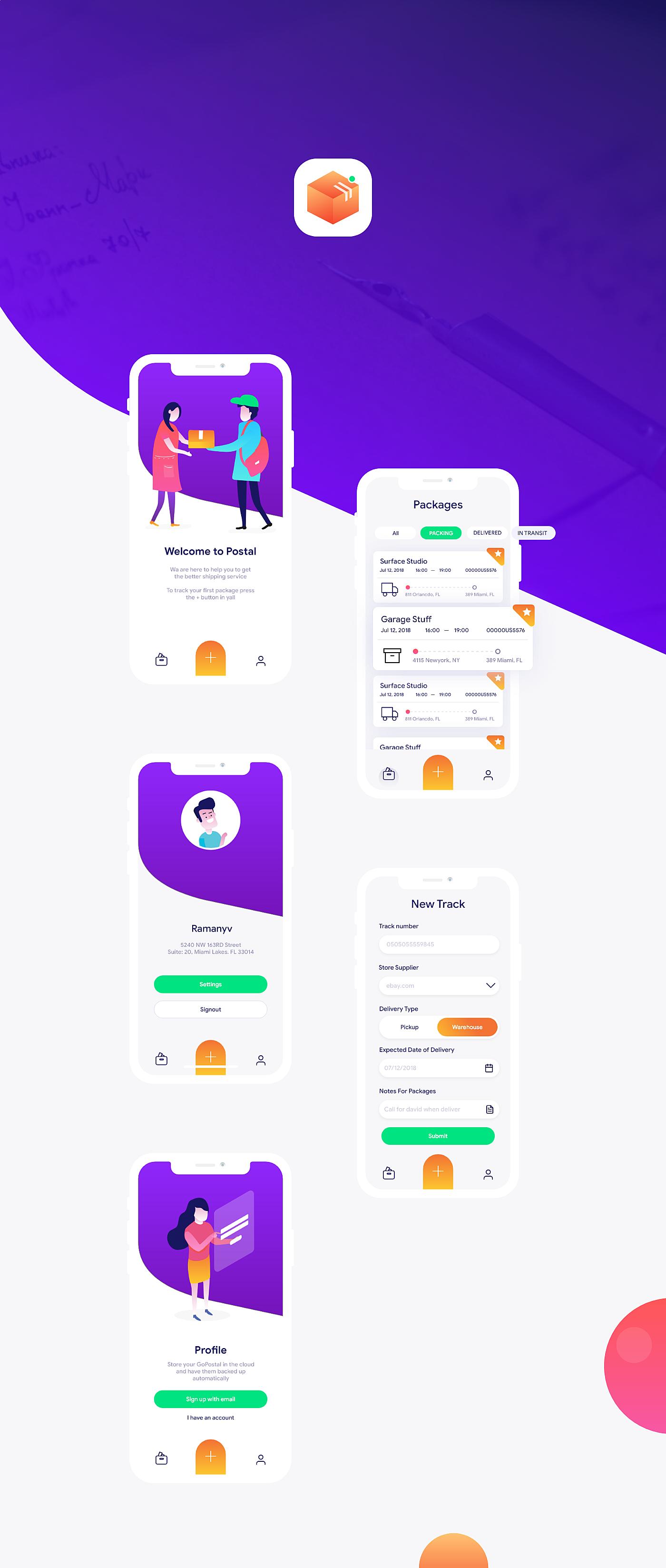 Postal App Ui