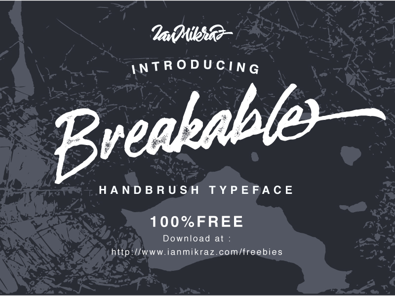 Breakable Free Typeface preview picture