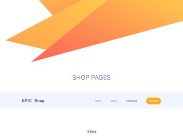 Epic Shop UI Kit