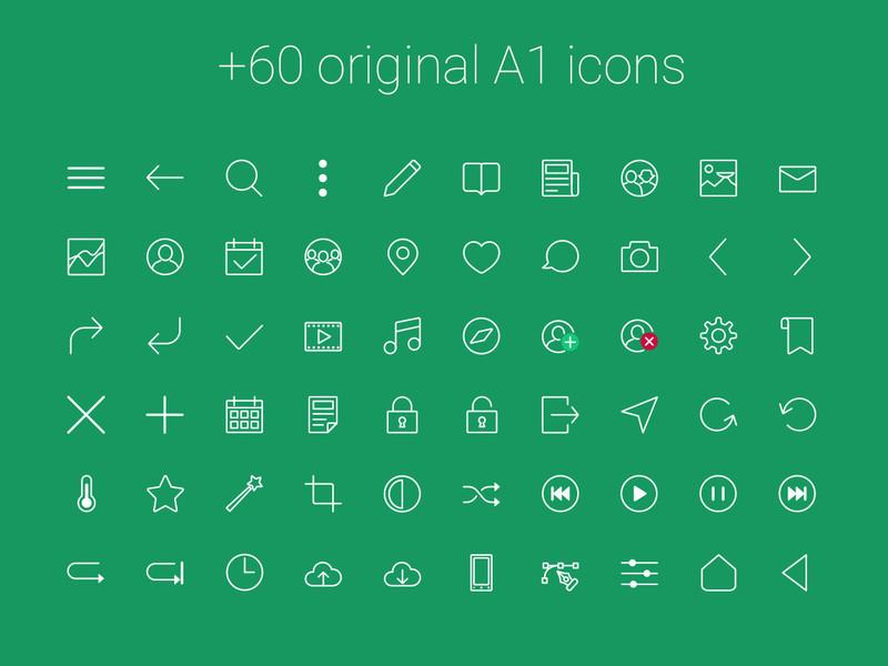 A1 Free UI Kit