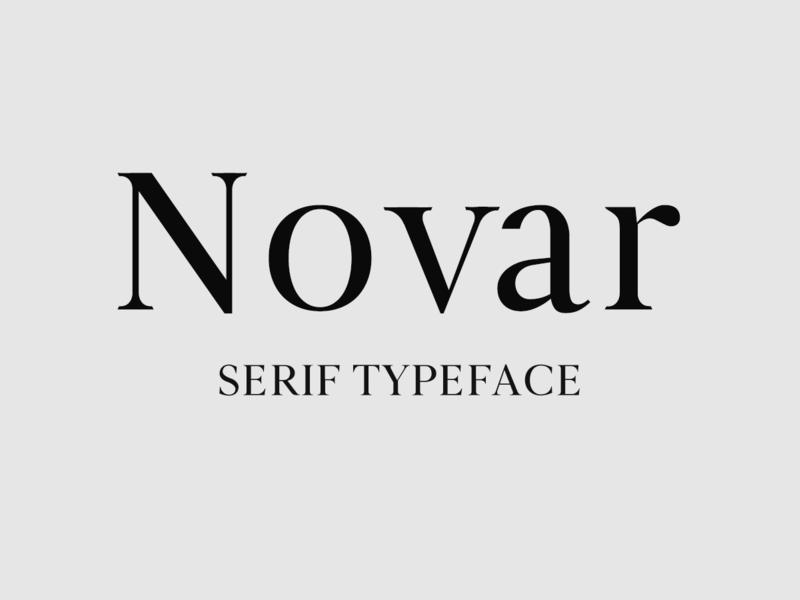 Novar font preview picture