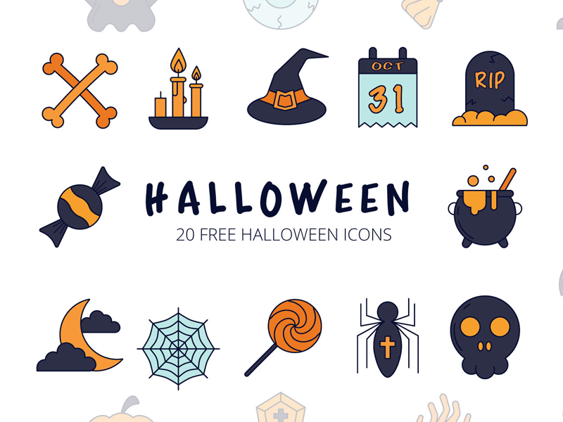 Halloween Vector Icon Set preview picture