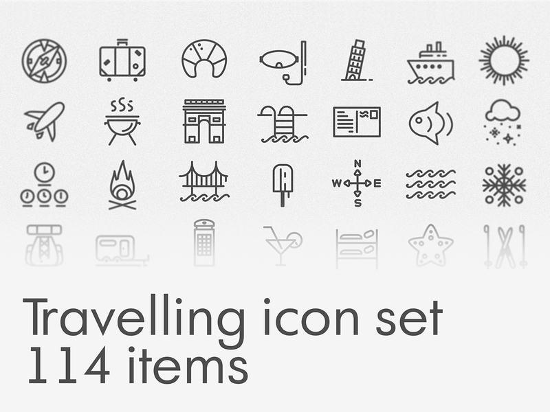 Free Travelling icon set [AI] preview picture