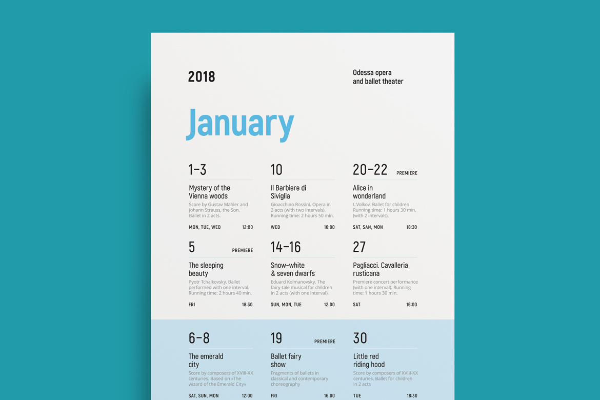 Schedule Event Poster, Vol.4