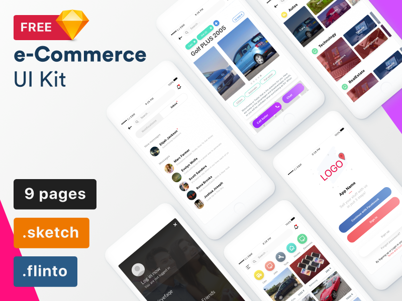 Free e-commerce UI Kit preview picture