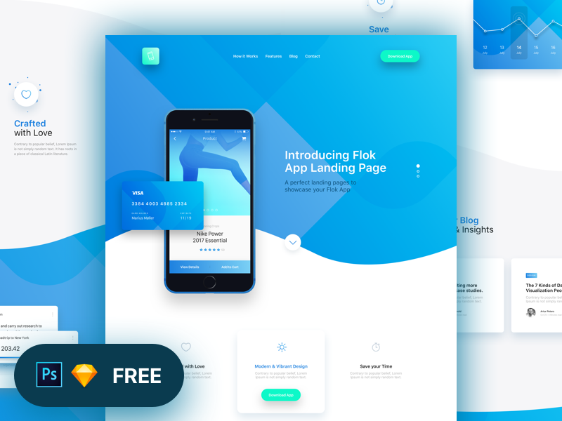 Flok App Landing Page Freebie preview picture