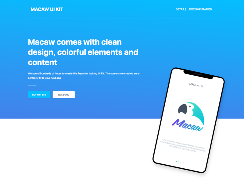 Macaw UI + React-Native Theme