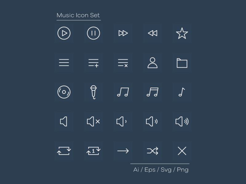 Music Icon Set preview picture