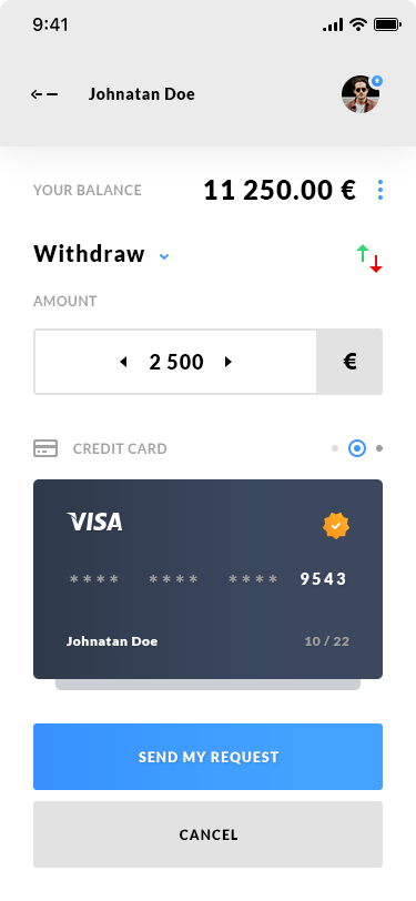 Deposit & Withdraw - iOS App