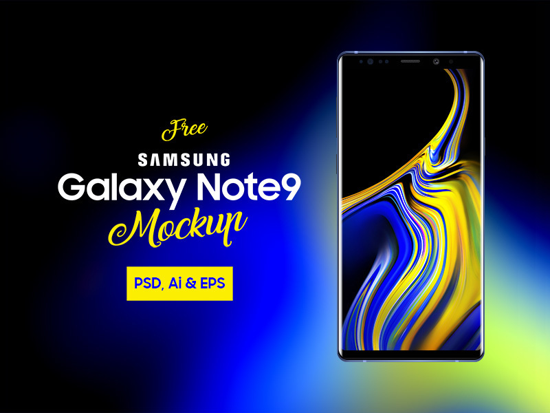 Samsung Galaxy Note 9 Mockup preview picture