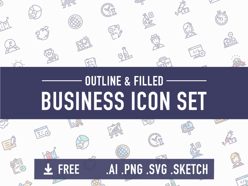 Business icon set preview picture