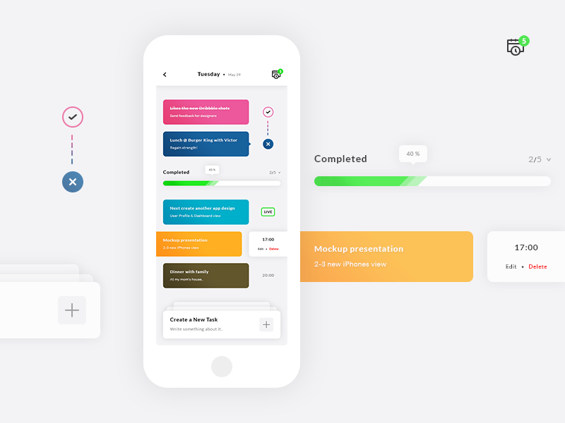Tasks App UI - UX preview picture