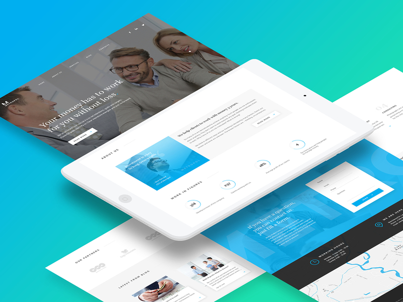 Metropol - Investment & Finance PSD Template