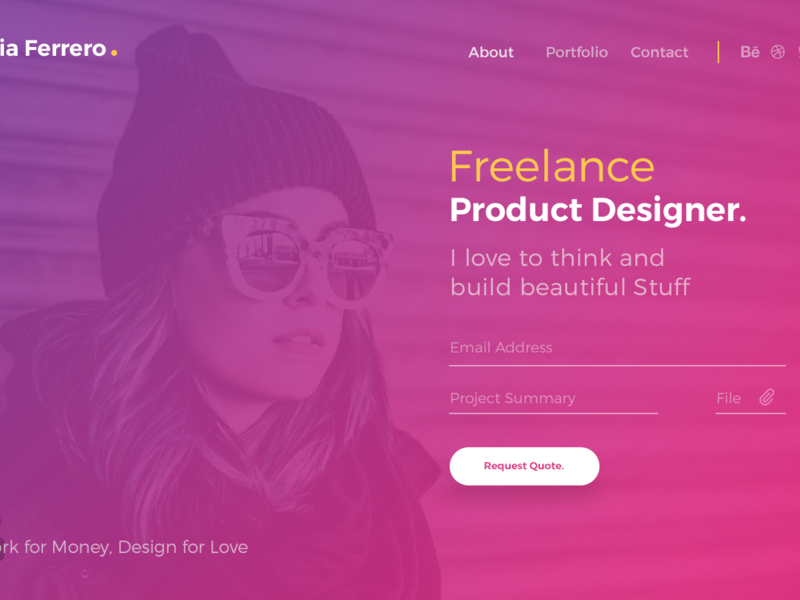 Ferrero Landing Page Template free