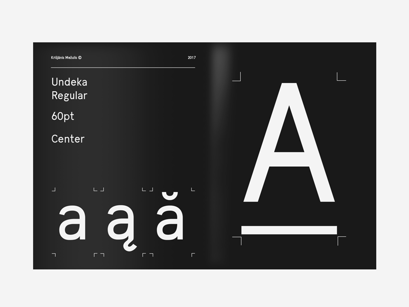 Undeka Typeface preview picture