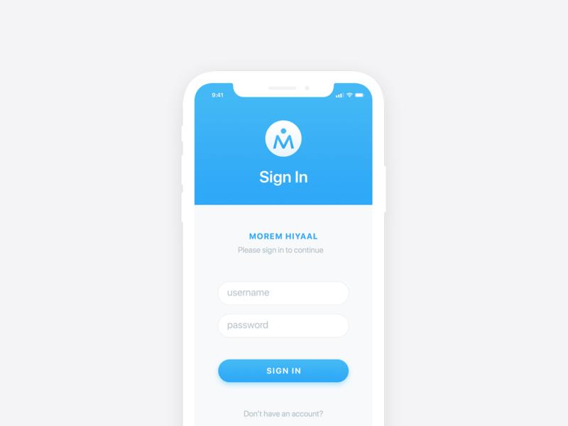 Morem Hiyaal | Ecommerce iOS UI Design | iPhone X | Free PSD
