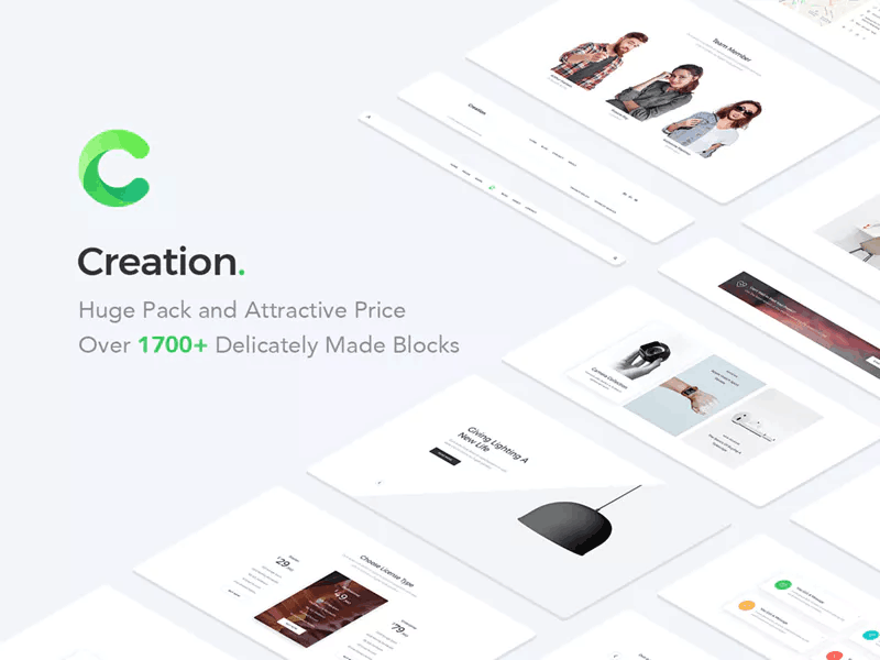 Creation Web UI Kit Free Sample preview picture