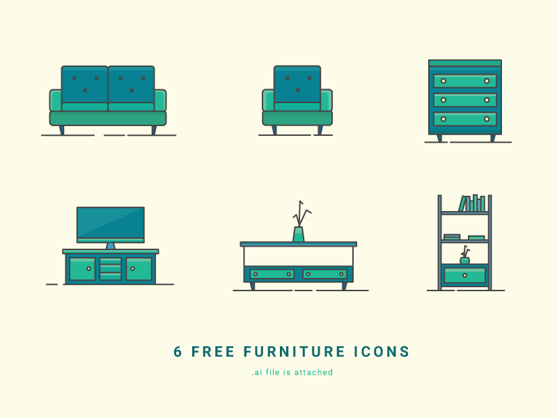 6 Free Furniture Icons preview picture