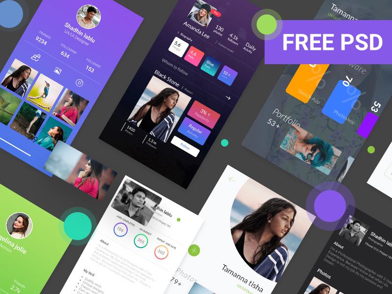 Profile UI Design preview picture