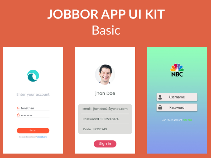 Jobbor Basic App UI Kit