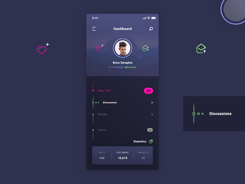 Dashboard User Profile preview picture