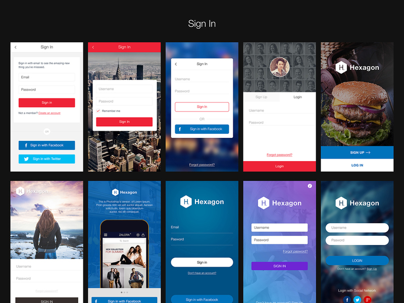 Hexagon Mobile UI Kit