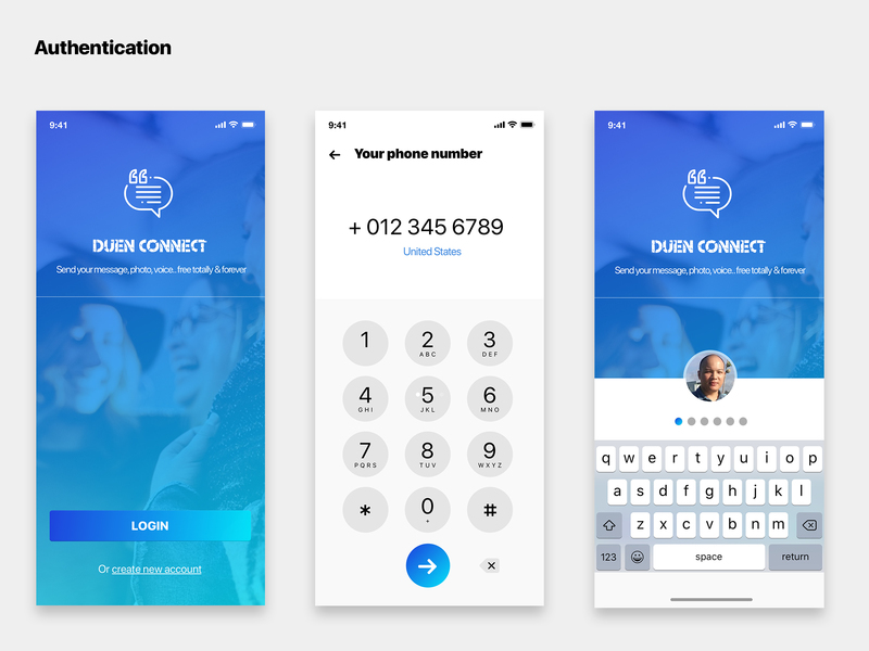 Duen UI KIT - The fantastic UI KIT for most Social Network mobile applications