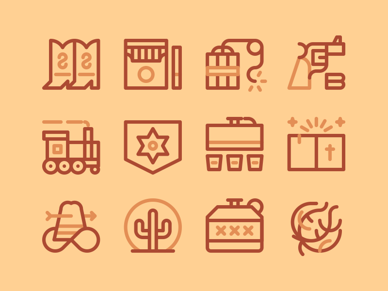 Western Icon set preview picture