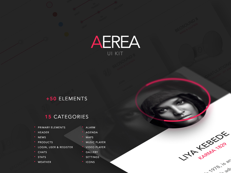 AEREA - Free UI Kit [PSD] preview picture