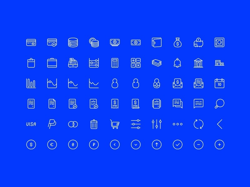 60 Finance Icons [SVG, AI, PSD]