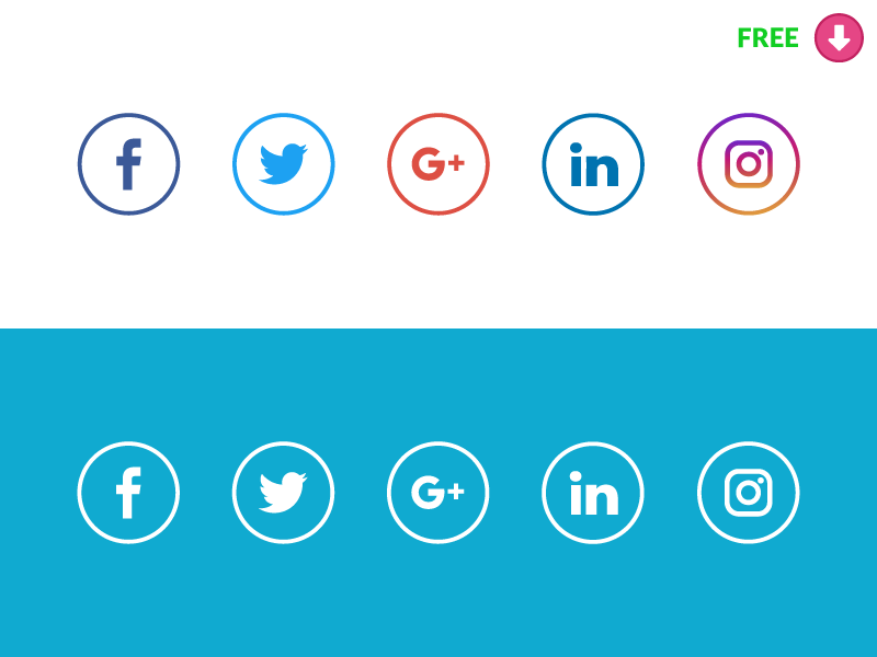 Free Social Media icons preview picture