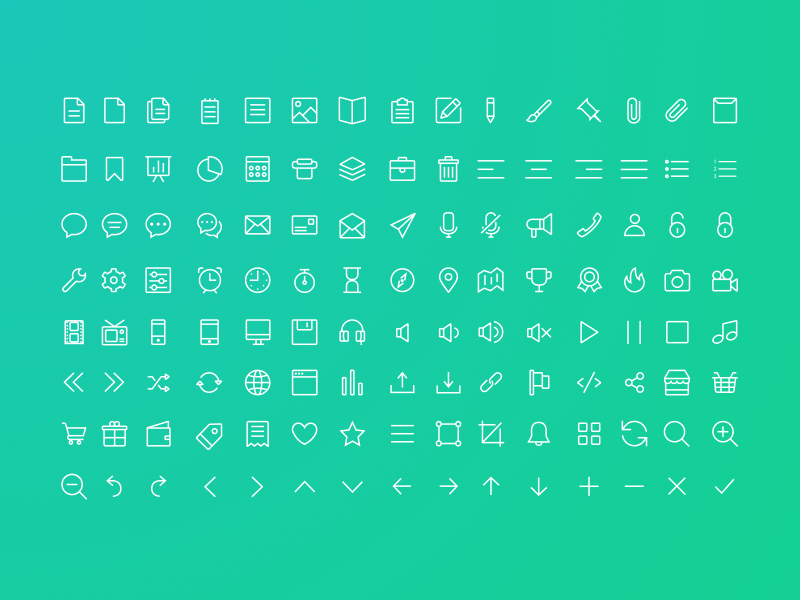 Line Icon Set preview picture