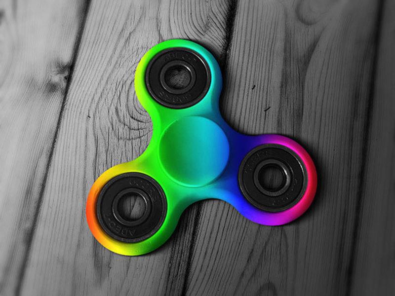 Fidget Spinner Hand Toy Mockup PSD