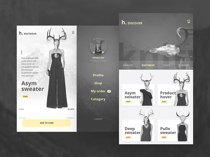 Hobi Fashion App Design