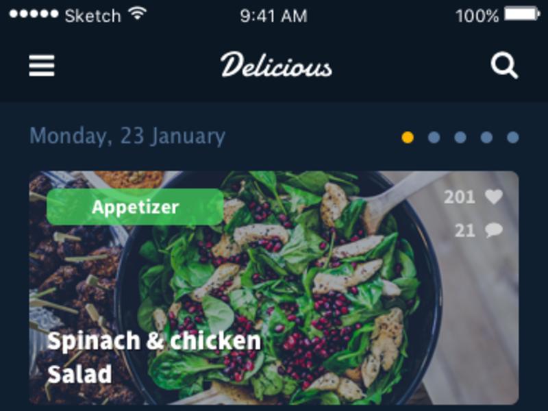 Recipes App [Sketch]