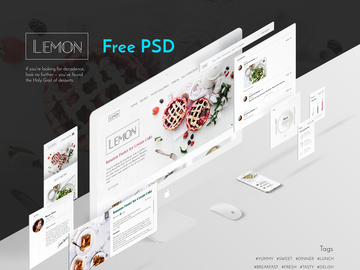 Lemon UI KIT free PSD