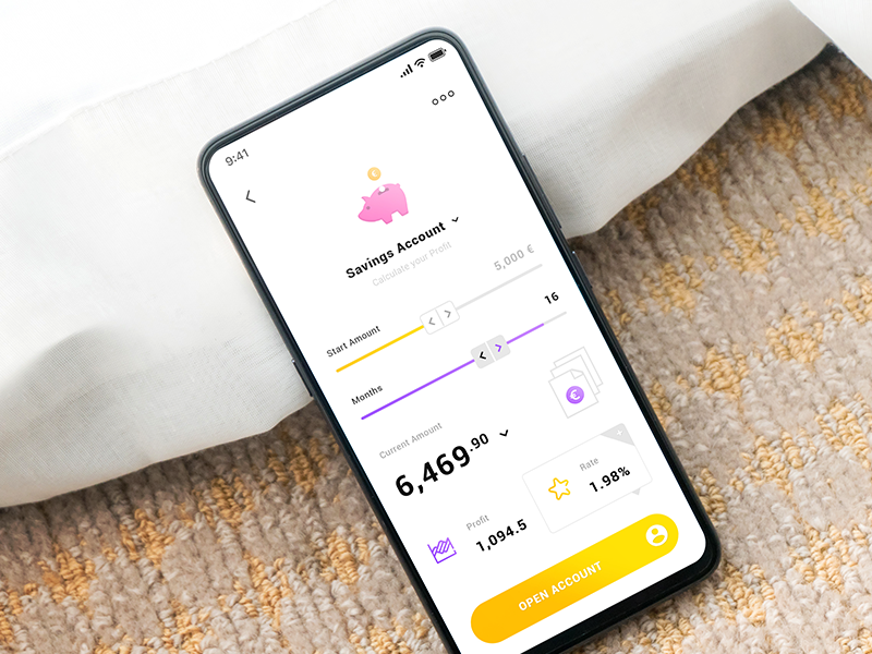 Savings Account iOS App preview picture