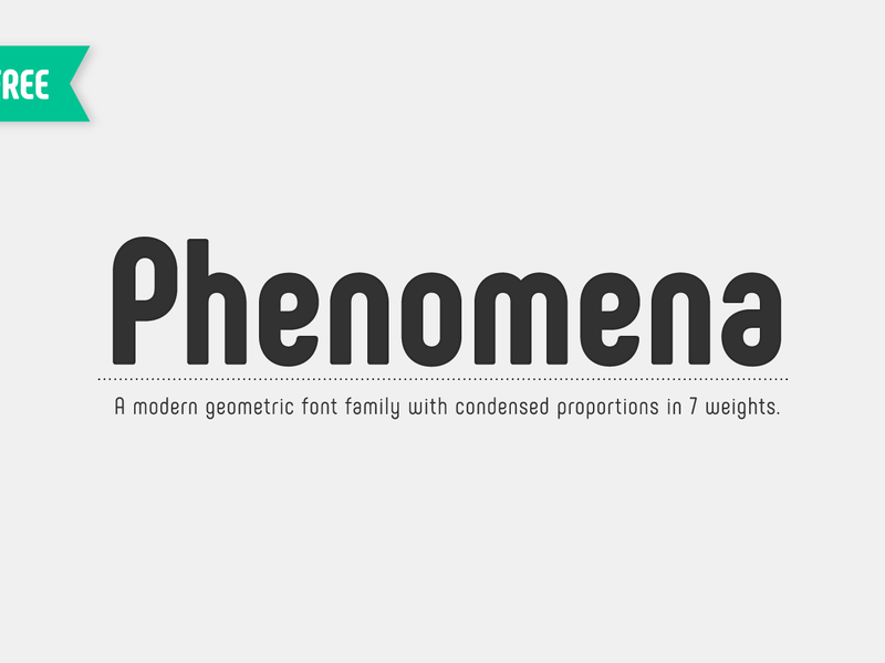 Phenomena: A free font family preview picture